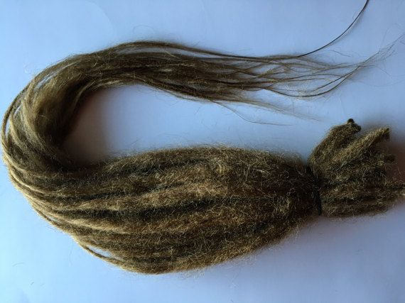 READY to SHIP 20 SE Single Ended Synthetic Dreads Dark Blonde Dreadlock Braid Hair Extensions Natural Knotty Extra Long