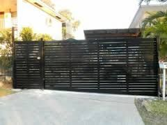 Image result for coated aluminium slat fences