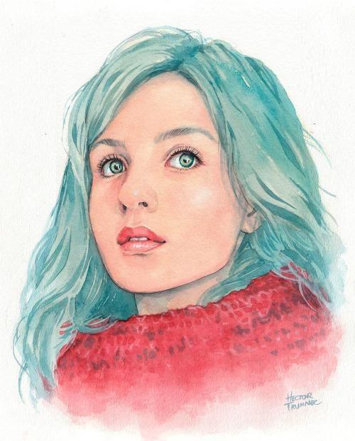 """frrmsd: Artist & Illustrator:Hector Trunnec""""Watercolor... http://ift.tt/1Eqcu5F"""