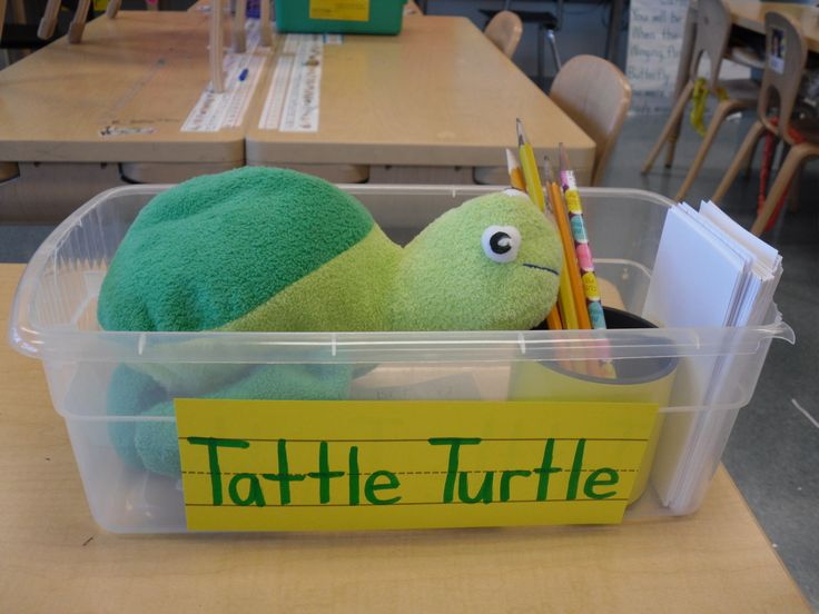 If you need to tattle...write to Tattle Turtle and get it off your chest! I can see this being very popular to start then the children will just get over tattling!