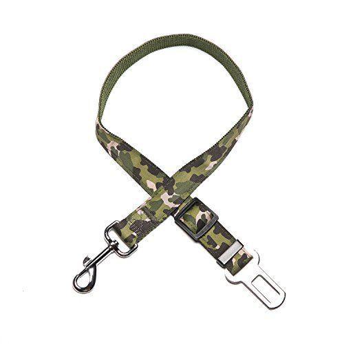 Adjustable Seat Belts Dog Cat Car Nylon Safety Car Vehicle Camouflage Pet leash #SeatBelts