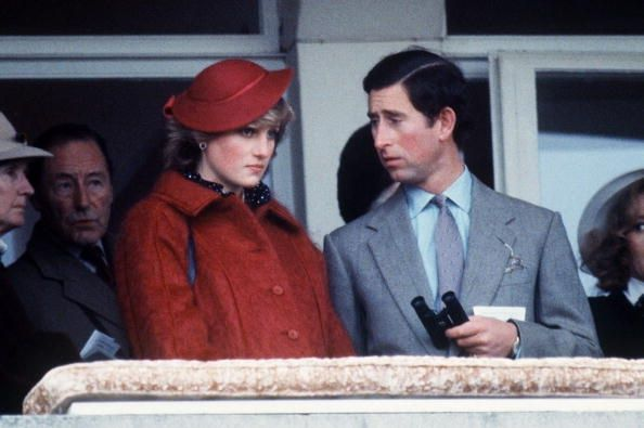18 MARCH 1982 PRINCE CHARLES & PRINCESS DIANA AT THE CHELTENHAM GOLD CUP, CHELTENHAM RACECOURSE, PRESTBURY PARK CHESHIRE