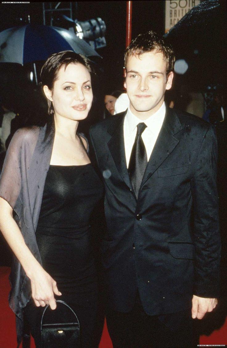 Angelina Jolie and Jonny Lee Miller at Orange British Academy Film Awards, April 1998.
