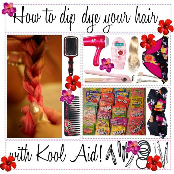 How To Dip Dye Your Hair With Kool Aid Polyvore