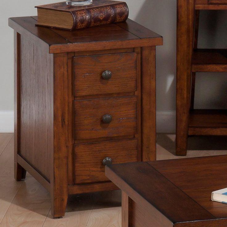 jofran clay county chairside table medium oak