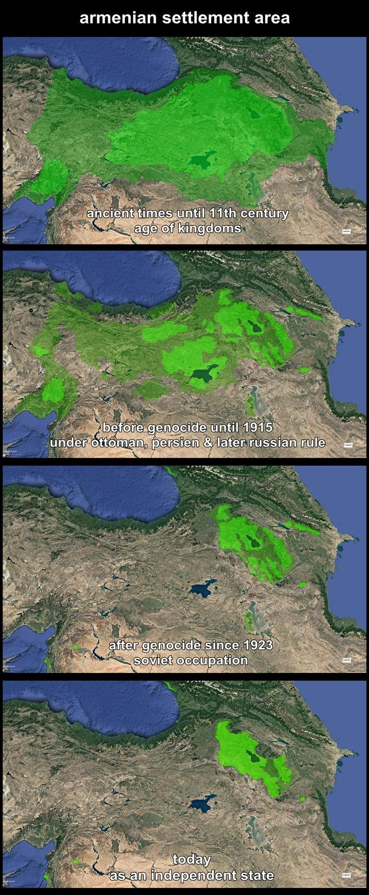 Decline of the Armenian settlement Area