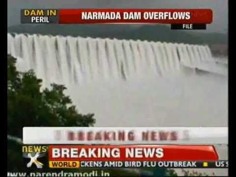 27 villages in Gujarat's Bharuch district have been put on alert as the Narmada dam over flows. Heavy rain fall in upper stream of Narmada dam, has increased water level in the reservoir. The Bharuch district collector has alerted 27 villages falling in down stream of Narmada dam. Evacuation process in several villages has already begun and 3 teams are at work. District administration has assigned evacuation task police department. Some 13 villages and 1000 people are evacuated.