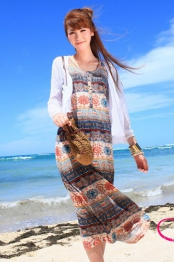 Knitted Printed One-piece #Dress