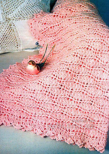 Схемы вязания крючком покрывала для подушек 146