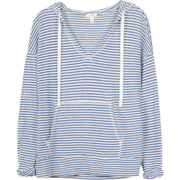 Evita Sweatshirt ($83) ❤ liked on Polyvore featuring tops, hoodies, sweatshirts, sweaters, shirts, sweatshirt hoodies, striped shirt, striped hoodies, stripe shirt and stripe hoodie