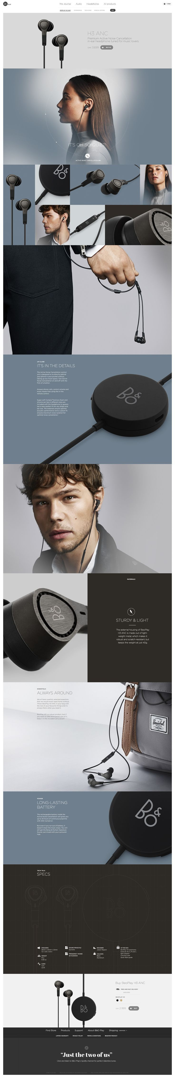 BeoPlay H3 by Søren Smidt #webdesign