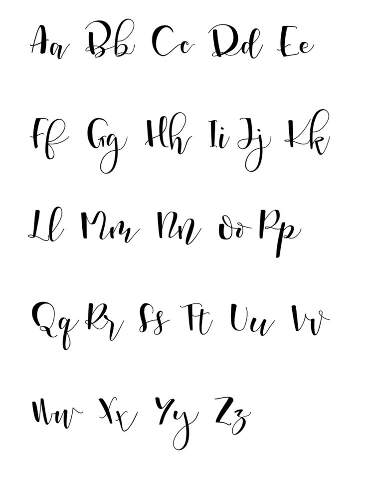 Best 25 hand lettering alphabet ideas on pinterest Easy calligraphy pen