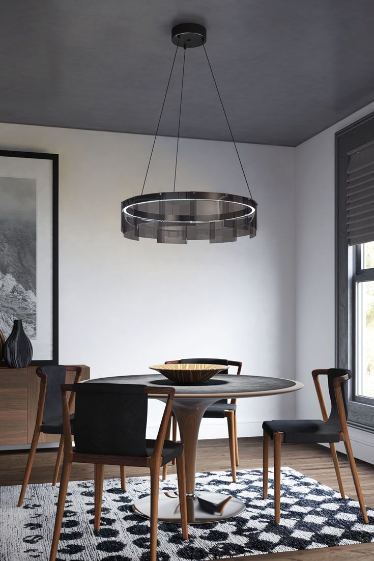 122 best dining room lighting ideas images on pinterest lighting the overlapping panes of gently curved glass instantly define the stratos led chandelier from tech lighting arubaitofo Image collections