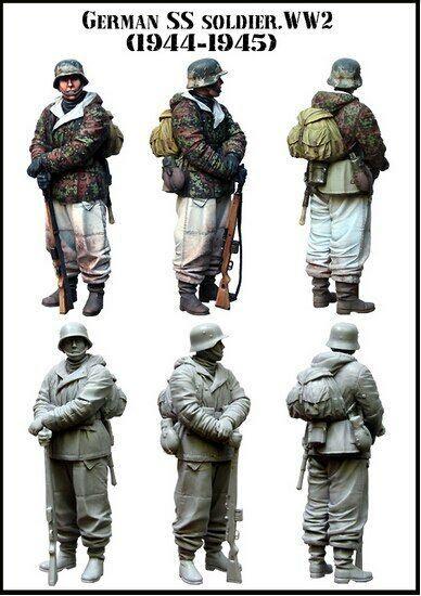 GERMAN SS SOLDIER WW2 (1944-1945) <b>1/35 Resin Model</b> Kit ...