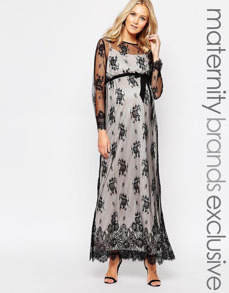 Little+Mistress+Maternity+Lace+Overlay+Maxi+Dress  ASOS on sale $27.50