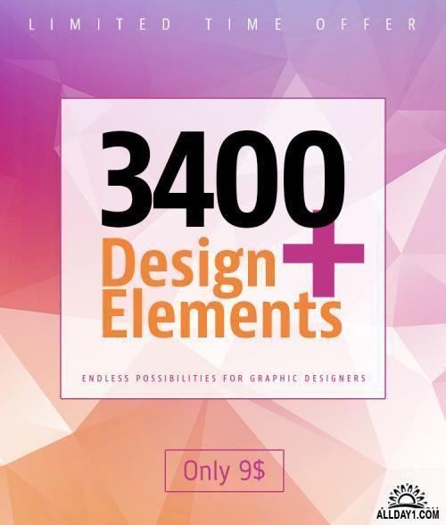 3400 элементов для фотошопа