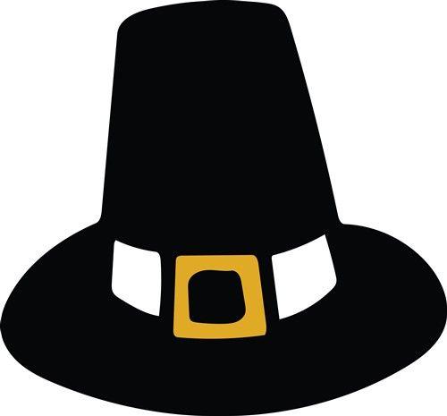 Pilgrim Hat - Print Art   Hat print, Thanksgiving coloring ...