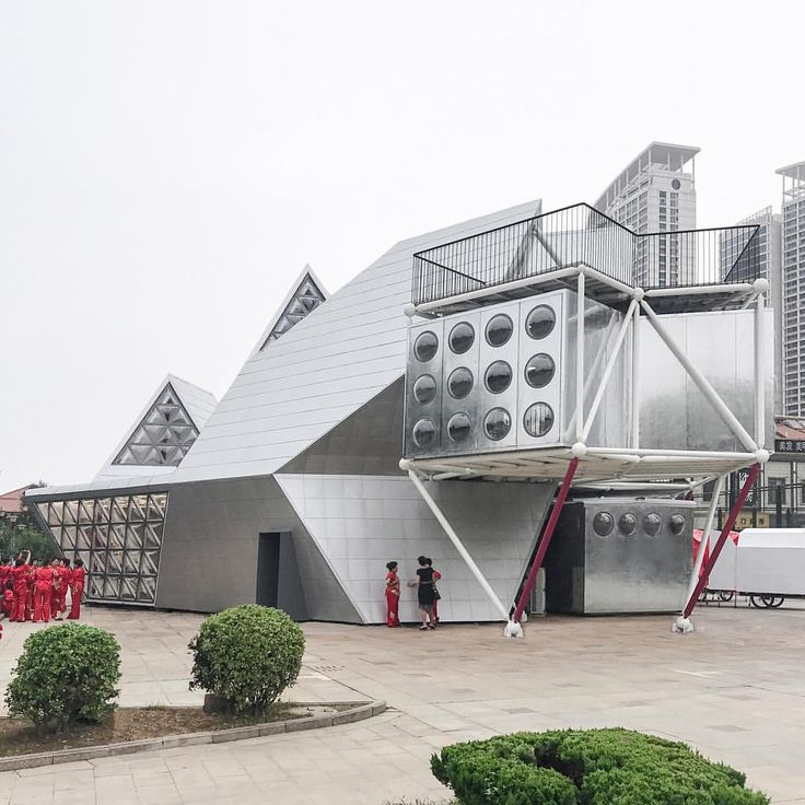 """2,285 Likes, 10 Comments - Dezeen (@dezeen) on Instagram: """"People's Architecture Office has completed a modular cultural centre in the Chinese city of Yantai,…"""""""