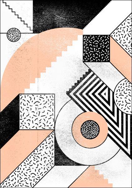 Quand les formes géométriques, les motifs et la couleur s'allient à un jeu de perspective, on dit OUI et on affiche tout de suite ! // Studio Falko Ohlmer