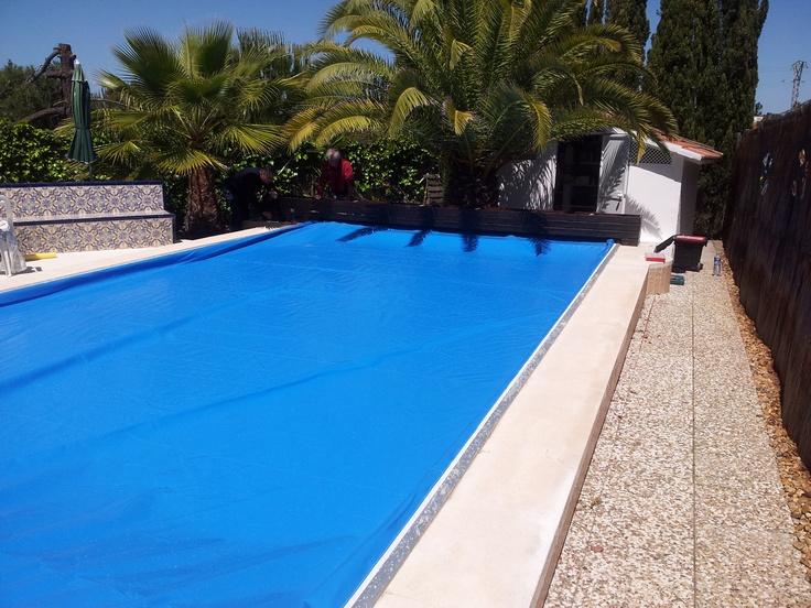 Benchmount toptrack en piscina mediana