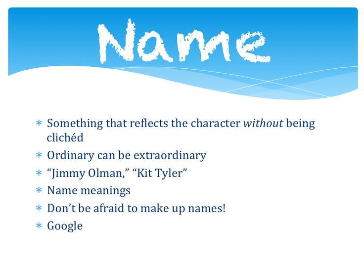 kits character development essay