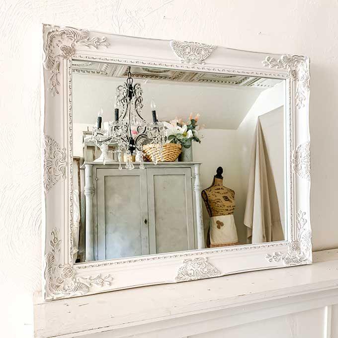 Beautifully Framed Bathroom Mirrors Hallstrom Home Shabby Chic Bathroom Shabby Chic Farmhouse Bathroom Mirror Frame