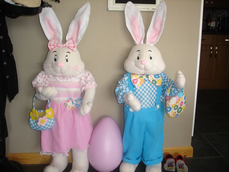 "Easter Bunnies 45"" Tall!"
