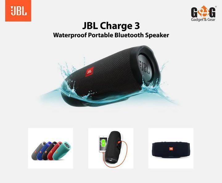 JBL Charge 3  Waterproof Portable Bluetooth Speaker  Price Tk 14,900/-