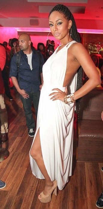 Hot! or Hmm...: Keri Hilson's Krave Nightclub Michael Costello Open Back White Draped Dress - The Fashion Bomb Blog : Celebrity Fashion, Fashion News, What To Wear, Runway Show Reviews