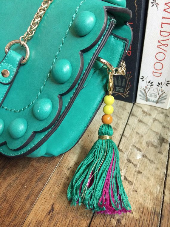 Tassel Keychain Felicity by StickandStoneCompany on Etsy