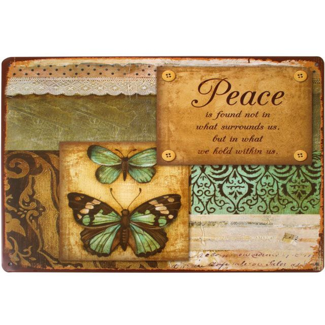 Peace Metal Wall Plaque £3.99