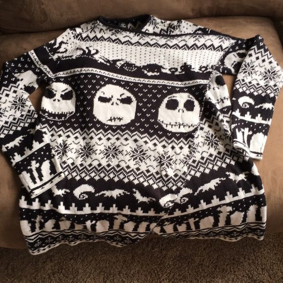 Hot Topic Disney Jack Skellington wrap sweater. Hot topic Dinsey Jack Skellington wrap sweater. Will bundle all t shirts that you want together so that the buyer only pays shipping once. Hot Topic Sweaters Cardigans