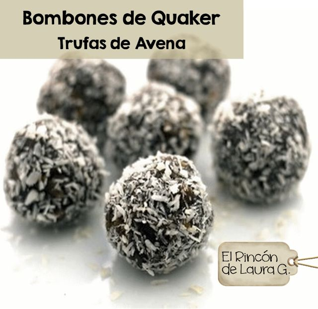 Bombones de Quaker • Trufas de Avena y Chocolate