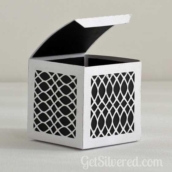 Free Silhouette Cut File - Lattice Gift Box