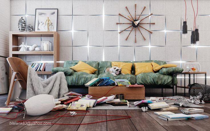Lovely Messy Living Room