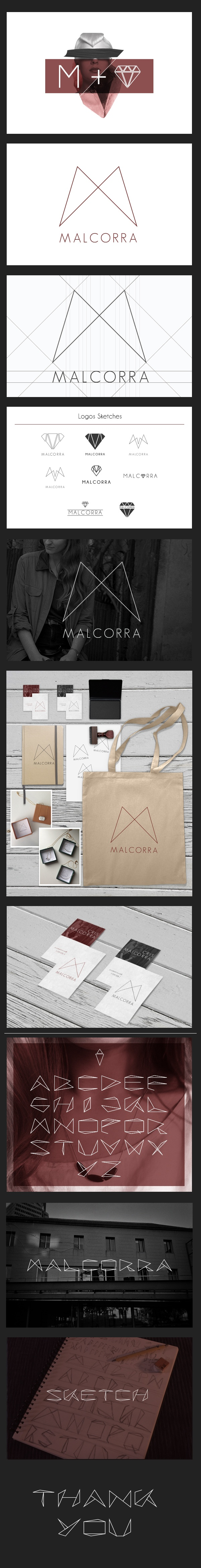MALCORRA (Branding) by Yonathan Tanu, via Behance