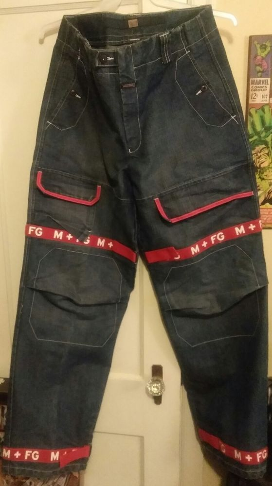 f778d6a0 Marithe' Francois Girbaud Red Shuttle Tape Blue Jeans Men's 34x33 #Girbaud  #BaggyLoose