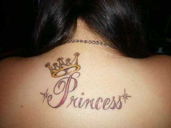 Princess Crown Tattoo Design for Asian Girls