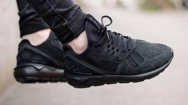 adidas Blacks Out on the Tubular Runner   Sneakers, Adidas noir ...