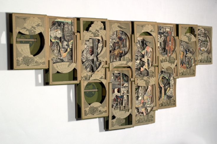 Art made from old encyclopedias