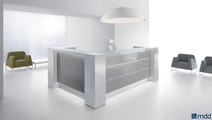 lada #recepcyjna VALDE - subtelna lada doskonale wpisująca się w aktualne trendy. Dzięki połączeniu szlachetnych materiałów - szkła, aluminium i kolorowych laminatów tworzy elegancką, reprezentacyjną całość.