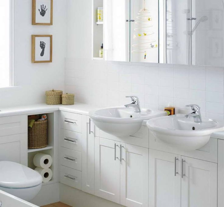 bathroom elegant white small space bathroom decoration with double round bathroom sink including white wood bathroom vanity and bathroom mirror medicine