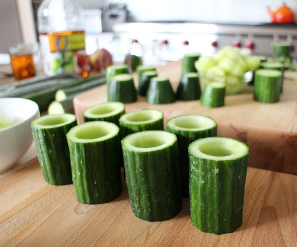 Edible cucumber cup