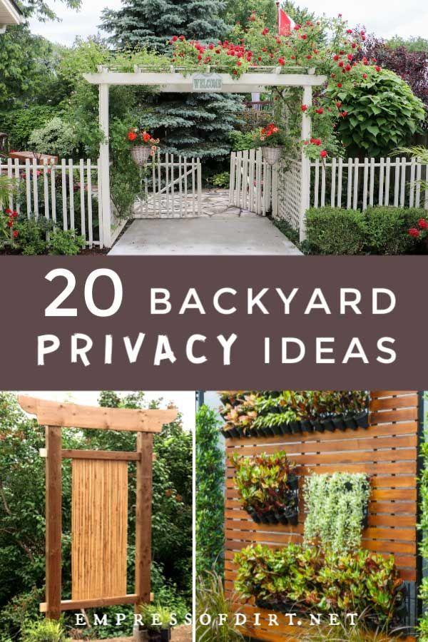 20 Ideas For Better Backyard Privacy In 2020 Backyard Privacy Educational Garden Garden Privacy