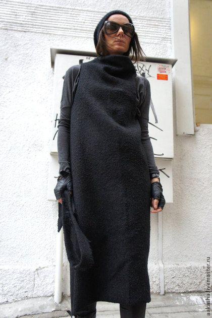 Пальто шерстяное пальто букле кардиган теплое пальто жилет пальто весеннее черное пальто черное букле кардиган жилетка черный кардиган шерстяной кардиган теплое пальто длинное пальто черное пальто