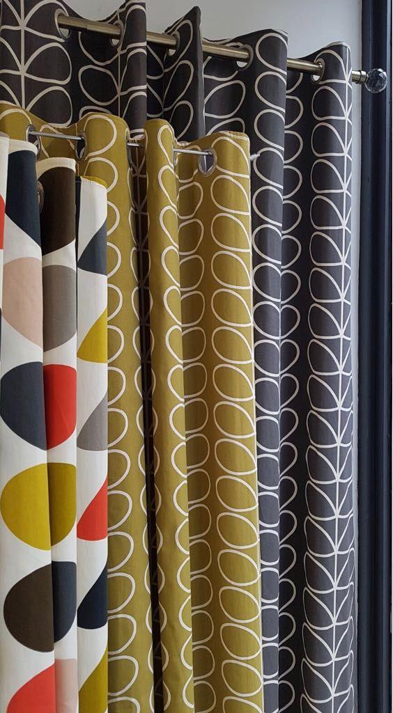 Love these Orla Kiely curtains #orlakiely #curtains #bernsteinscurtains #cardiff #patternedcurtains