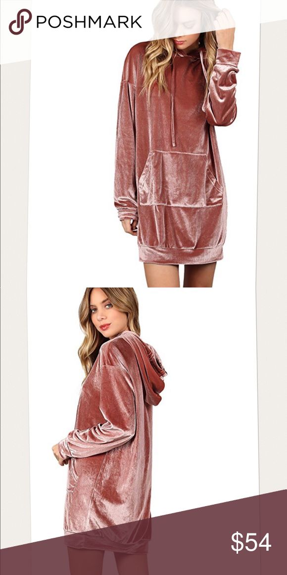 Velvet sweatshirt dress or top Brand new w tags pink velvet sweatshirt dress. Also looks fab w a pair of leggings or jogging. Sizes xsmall, small, or medium.   POSH RULES LNLY NO PP NO LOWBALL OFFERS  HAPPY POSHING! boutique Dresses Mini