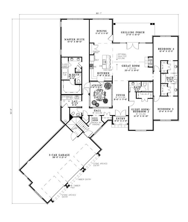 72 best my house plans images on pinterest architecture, home Open Plan House Design Nz house plan 82242 european plan with 2716 sq ft , 4 bedrooms, open plan house designs