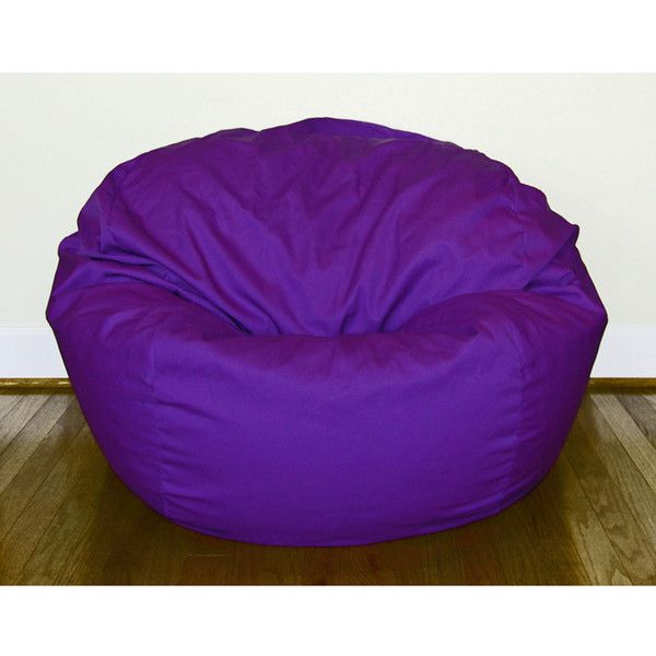 Ahh Products Purple Cotton/ Poly Twill 36-inch Washable Bean Bag Chair ($176) ❤ liked on Polyvore featuring home, furniture, chairs, purple, low chair, round chair, bean-bag chair, poly furniture and purple bean bag chair