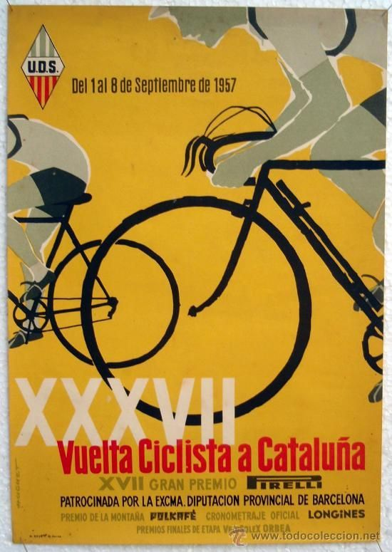 Afbeeldingsresultaat voor vintage poster biking vuelta